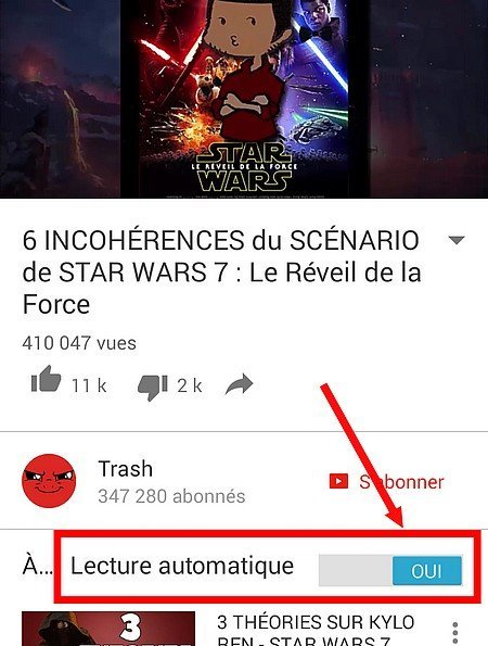 désactiver YouTube automatique
