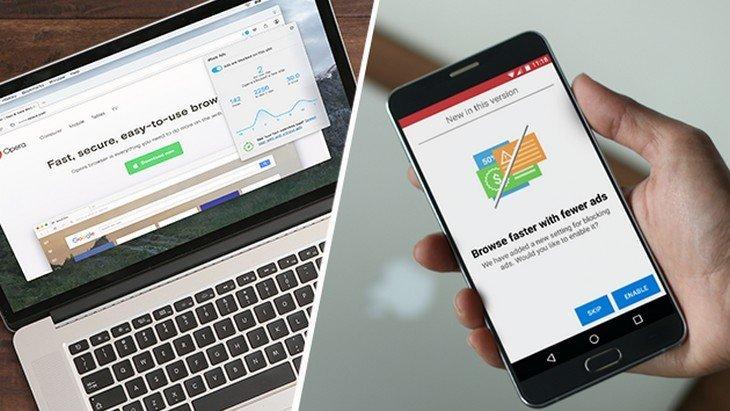 Le navigateur Opera te fait surfer sur le web sans publicité