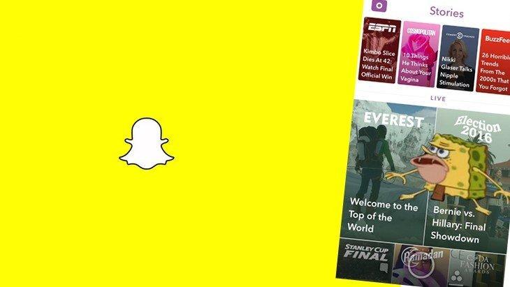 Mise à jour Snapchat : du nouveau pour les Stories et Discover