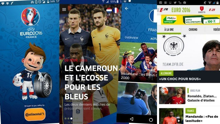 Euro 2016 : 10 applications mobiles pour ne rien rater