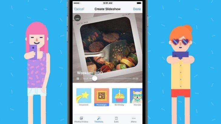 Facebook «réinvente» le diaporama vidéo avec Facebook Slideshow