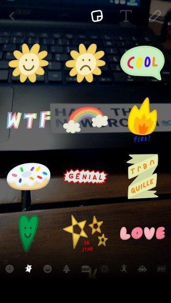 nouveaux stickers Snapchat