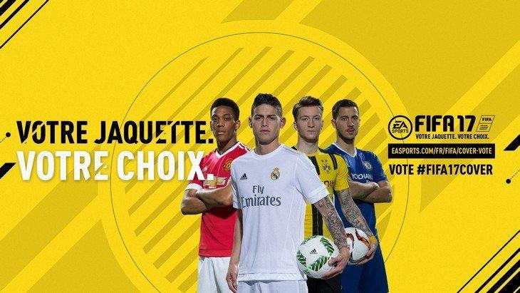 FIFA 17 : qui de Rodriguez, Martial, Hazard ou Reus sur la jaquette ?