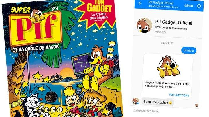 Super Pif Gadget lance son Pif-Bot, le 1er chatbot avec Pif !
