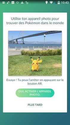 Pokemon Go appareil Photo