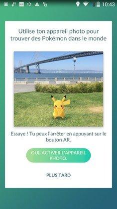 Pokemon Go appareil Photo