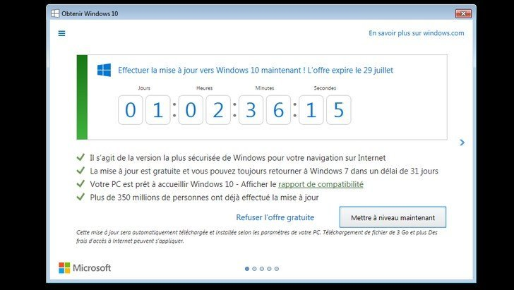 installer windows 10 gratuitement c 39 est maintenant ou jamais geek junior. Black Bedroom Furniture Sets. Home Design Ideas