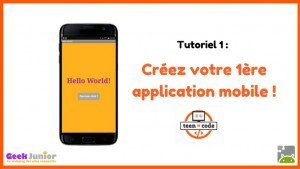 Tutoriel création application mobile Hello World
