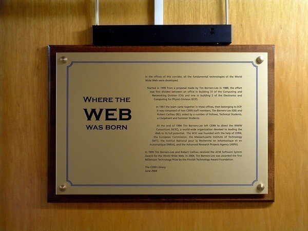 plaque commemorative Cern