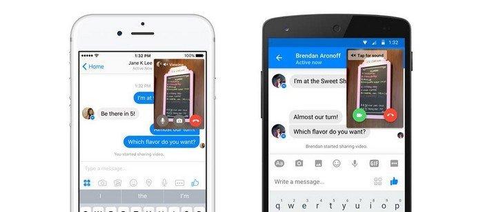 Facebook Messenger appel vidéo direct