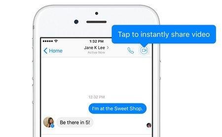 Facebook Messenger bouton appel vidéo direct