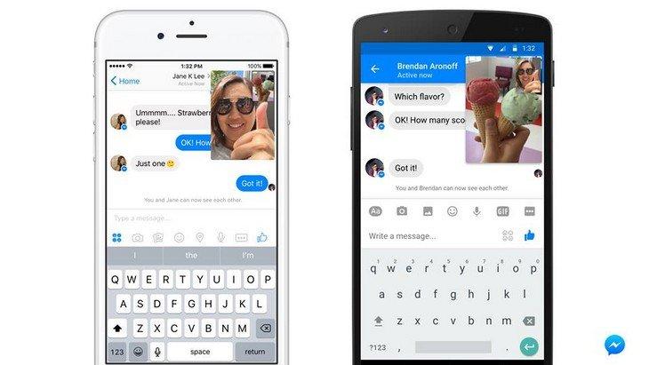 Les vidéos en direct disponibles sur Facebook Messenger