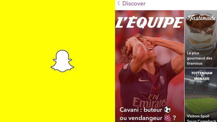 Snapchat Discover arrive enfin en français