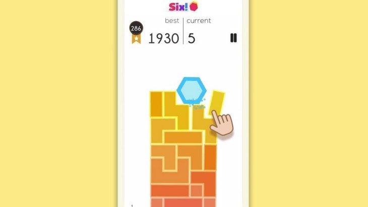 Six! revisite le jeu Tumble sur Google Play et l'App Store