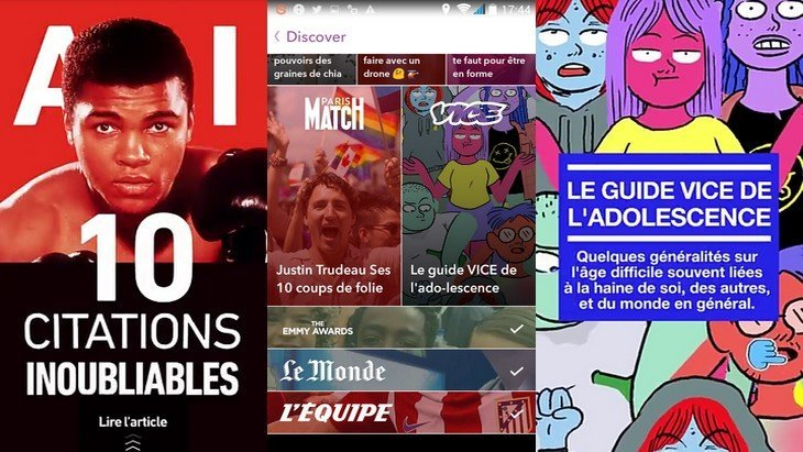 Snapchat Discover en français : on y trouve quoi ?