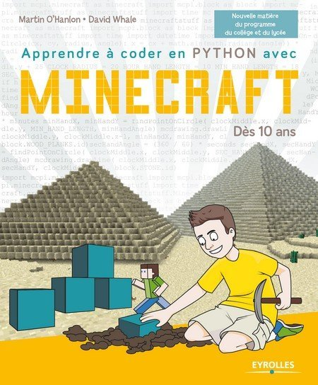 couverture Apprendre coder Python Minecraft