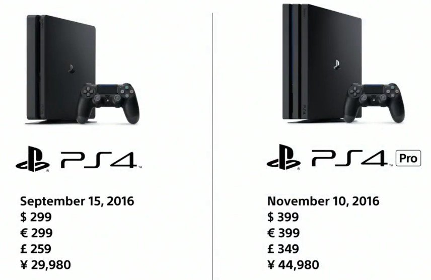 PS4 Slim PS4 Pro