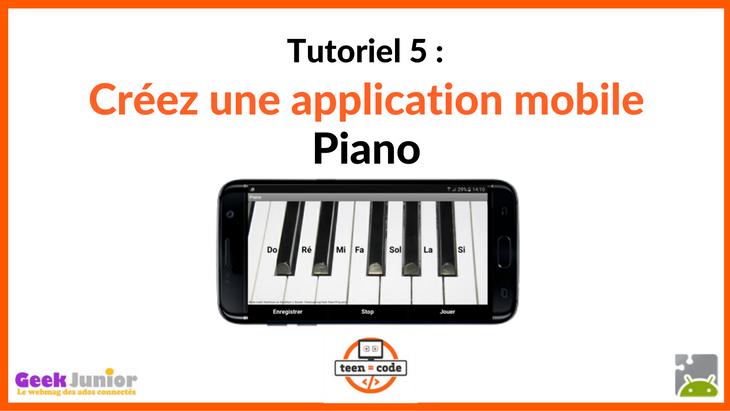 Tuto vidéo : crée une application mobile Piano !