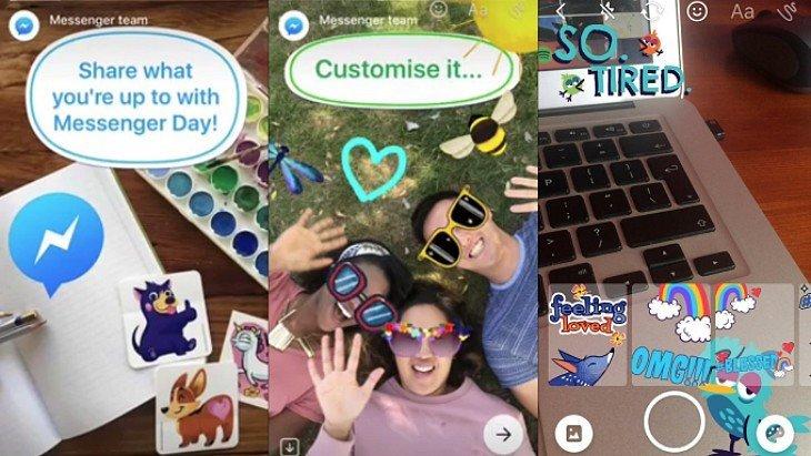 Avec Messenger Day, Facebook copie les stories de Snapchat !