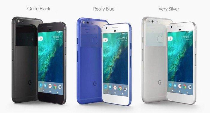 Google Pixel trois coloris disponibles