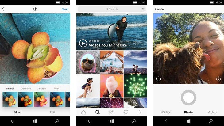 Instagram lance une application Windows 10 (PC et tablette)