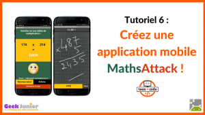 Tuto vidéo application mobile Maths Attack