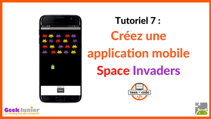 Tuto vidéo : crée une application mobile de jeu Space Invaders !