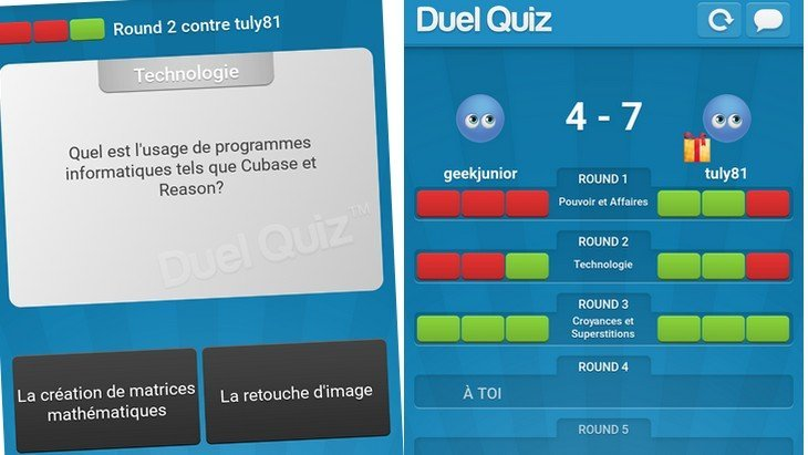 Le jeu mobile du jour : Duel Quiz (Google Play, iPhone)