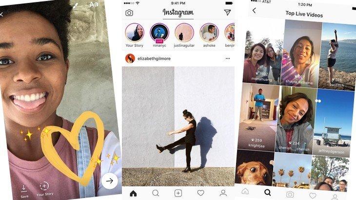 Le meilleur de Snapchat et Periscope arrive dans Instagram