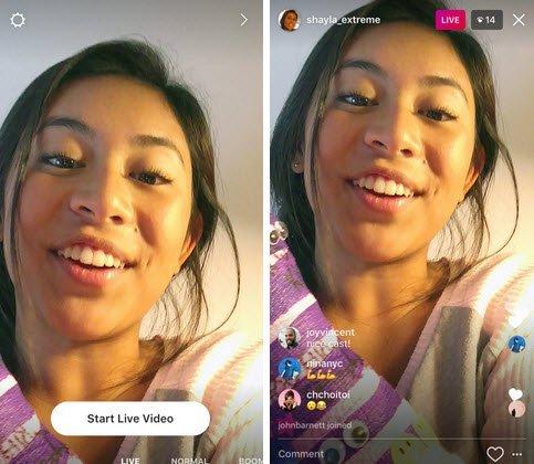 Vidéo en direct Instagram