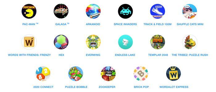 Instant Games liste des jeux