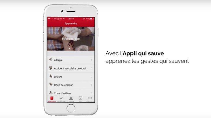 """""""L'Appli qui Sauve"""" par la Croix-Rouge : les gestes utiles en cas d'urgence sur ton mobile"""