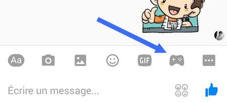Manette de jeu - Facebook Messenger