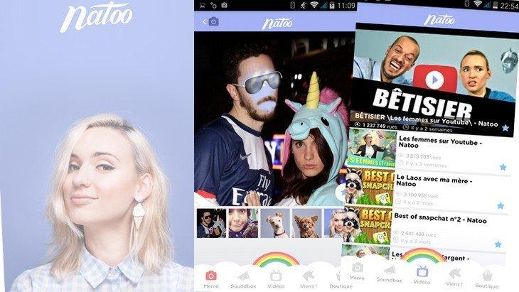 Natoo sort son application : vidéos, filtres à la Snapchat et des surprises