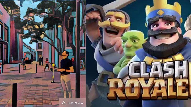 Clash Royale et Prisma au top sur Google Play et l'App Store en 2016