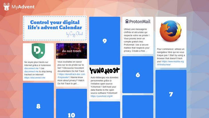 Découvre le calendrier de l'Avent pour contrôler ta vie numérique