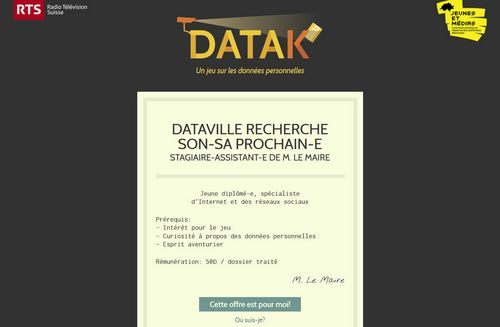 Datak - page d'accueil