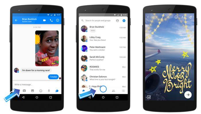Facebook Messenger nouveau bouton