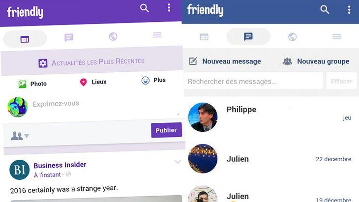 Avec Friendly, Facebook et Messenger de nouveau ensemble !