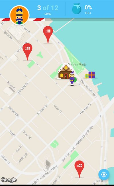 Google Santa Tracker - recherche de cadeaux