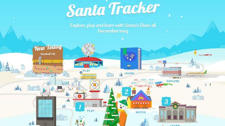 Google Santa Tracker t'aide à trouver le Père Noël
