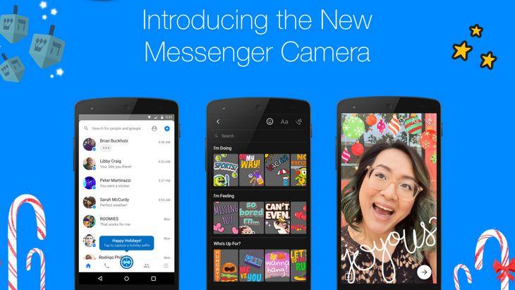 Facebook Messenger  : les stickers et filtres à la Snapchat sont là !