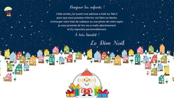 Écris au Père Noël sur la messagerie sécurisée Net-C Junior