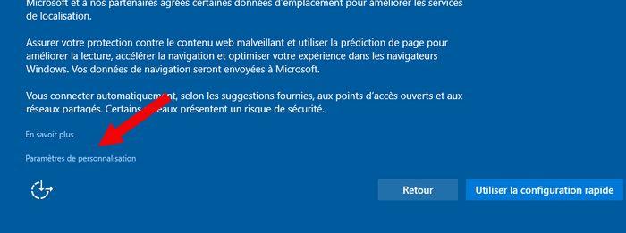 Paramètre Personnalisation Windows 10
