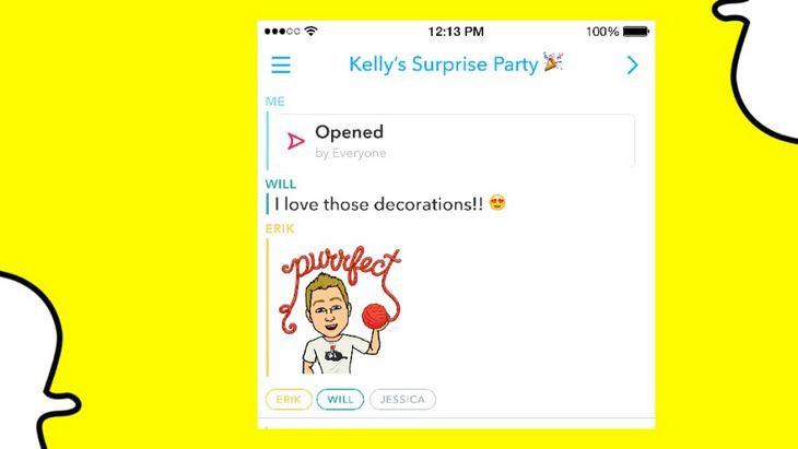 Mise à jour Snapchat : arrivée des chats de groupe, intégration de Shazam et…