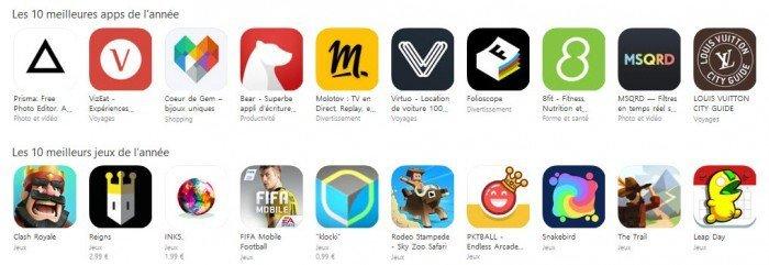 Top App Store 2016