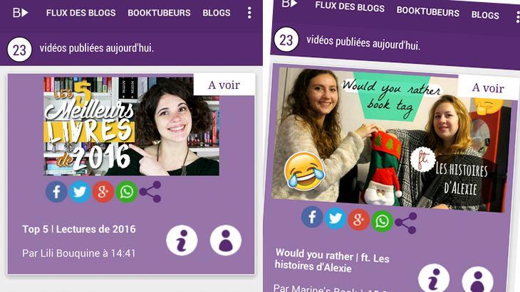 Booktubers, l'application mobile pour suivre tes booktubers préférés !