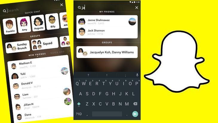 Mise à jour Snapchat : une recherche plus simple et le lancement de Our Stories