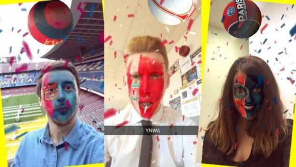 Le PSG, L'OM ou le FC Barcelona ont leurs filtres Snapchat !