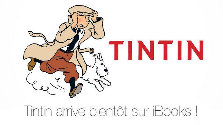 Tintin disponible au téléchargement sur iBooks (iPad / iPhone) !